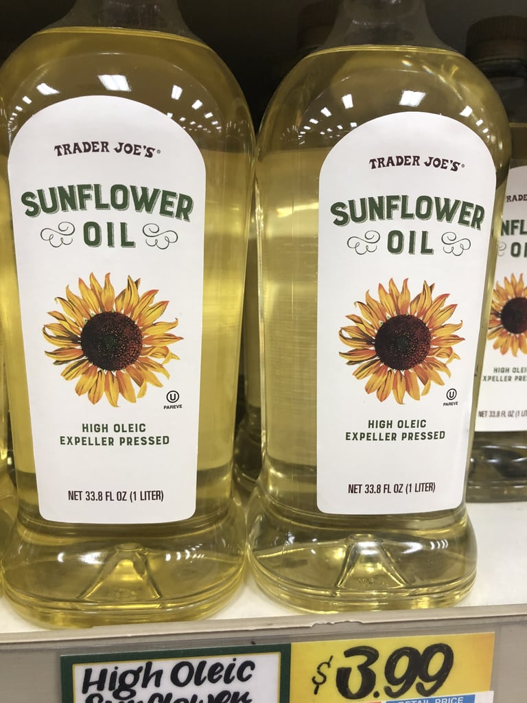 Joe For Oil >> Sunflower Oil Trader Joe S Healthy Baking Products Popsugar
