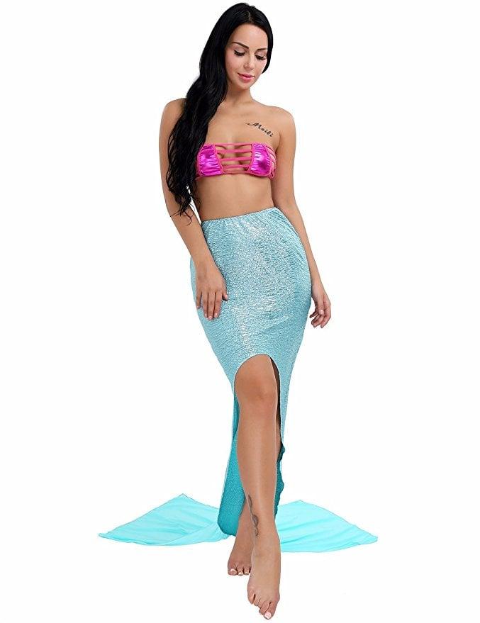 YiZYiF Swimmable Mermaid Tail Swimwear Beach Costume