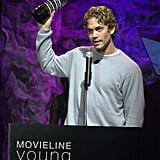 Paul accepted a Movieline Young Hollywood Award in LA in April 2001.