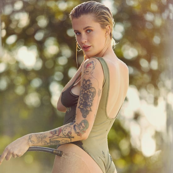 Ireland Baldwin Green One Piece Swimsuit