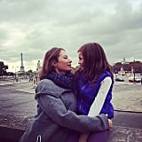 Christy Turlington and Grace Burns took in the sights of Paris together. Source: Instagram user cturlington