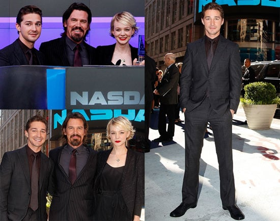 Pictures of Carey Mulligan, Shia LaBeouf and Josh Brolin Ringing the Bell at the NYSE 2010-09-20 12:30:00