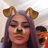 Kylie Jenner Took a Silly Selfie on the Pink Carpet