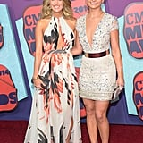 Carrie Underwood and Miranda Lambert posed together on the red carpet at the CMT Music Awards.