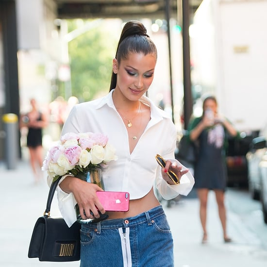 Bella Hadid Backless Button-Down Shirt