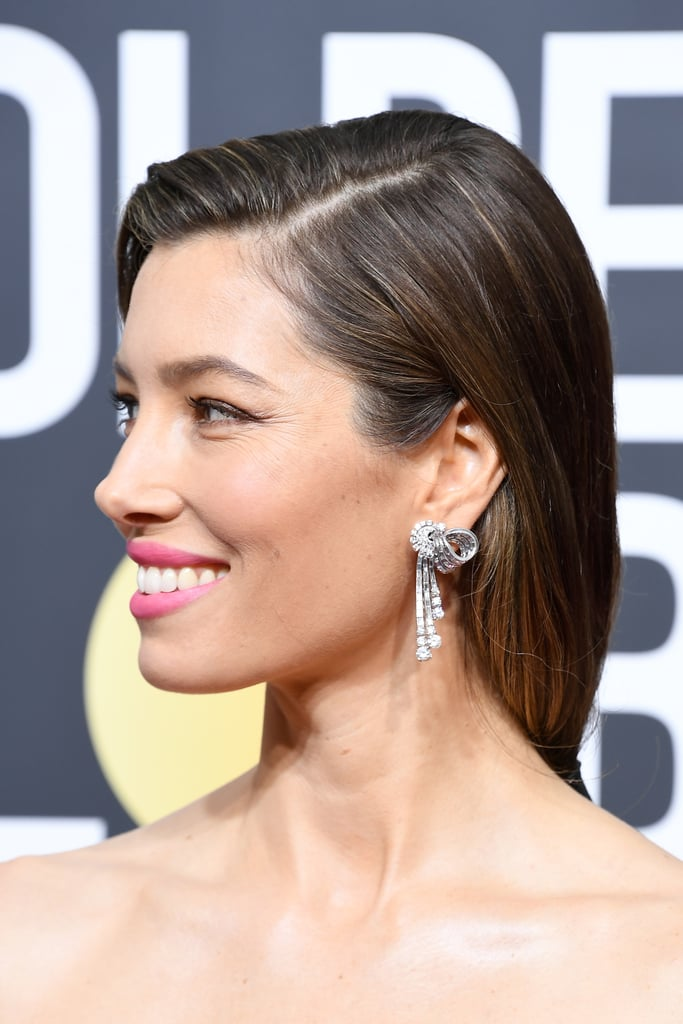 Jessica Biel Hair Golden Globes 2018 Popsugar Beauty Uk