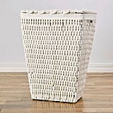 Cotton Rope Laundry Hamper With Lid in White