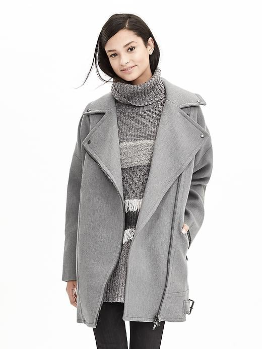 Banana Republic Cotton Moto Cocoon Coat ($298)