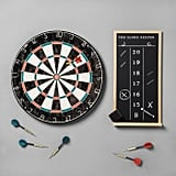 Brush up on your hand-eye coordination with this Dartboard Set and Scoreboard ($40).