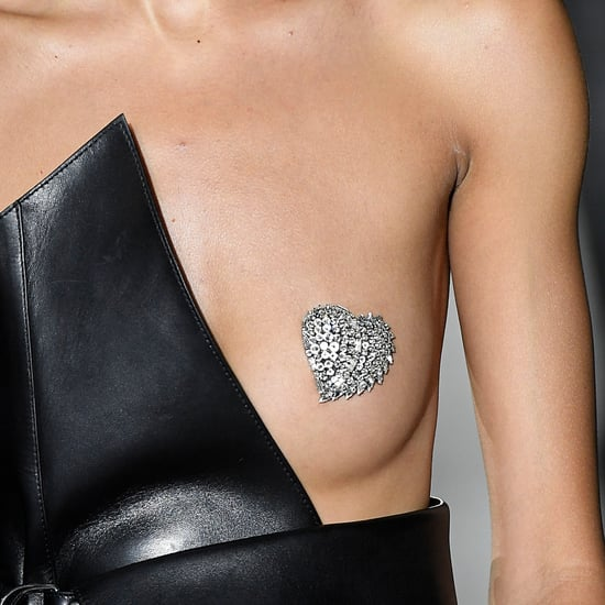 Glitter Nipple Saint Laurent Paris Fashion Week Spring 2017