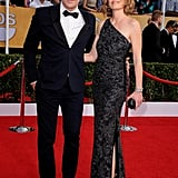 Ty Burrell and his wife, Holly, hit the carpet.