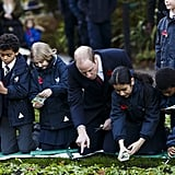 Will helped a group of student plant seeds at Kensington Memorial Park in November 2016.
