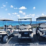Isla Mujeres is filled with beach clubs for anyone to pop in, put on your shades, and soak in the Mexican sun and gush about wedding excitement. However, if you're thrill-seeking gals, golf cart it over to Garrafon Park where you can zipline and soar 100 feet over sea level, giving you the most exhilarating views of the ocean.