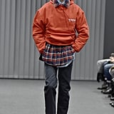 Bernie Sanders Logo on Balenciaga Men's Runway 2017