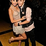 Selena Gomez got close with Justin Bieber backstage at the 2011 Teen Choice Awards.