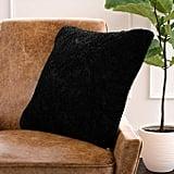 Rivet Glam Soft Faux Fur Throw Pillow