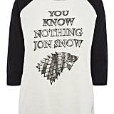 Jon Snow Raglan Top