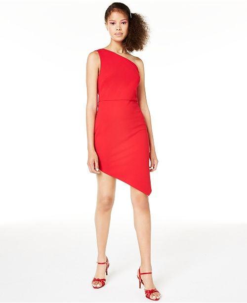 Macy's One-Shoulder Bodycon Dress