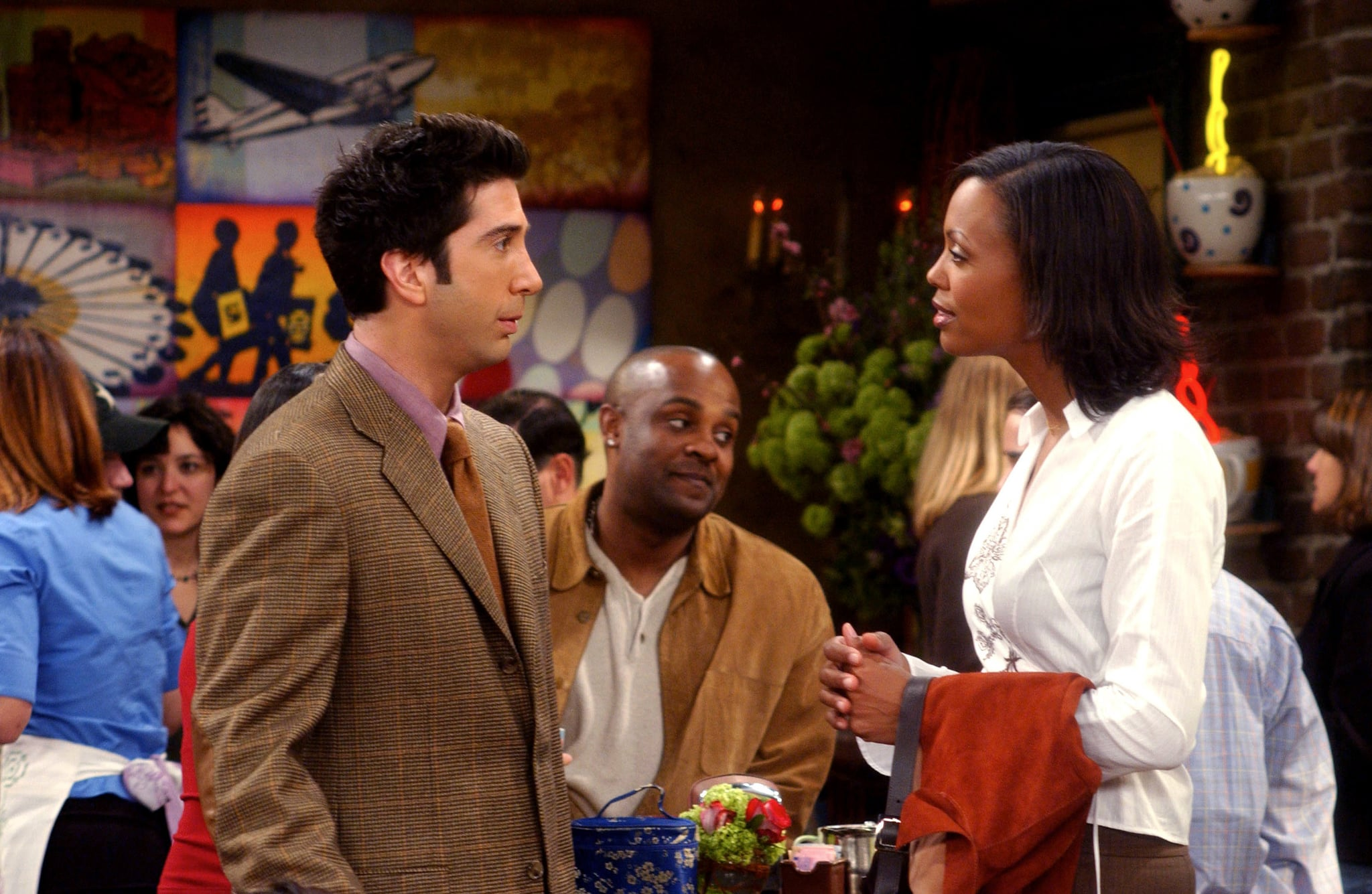 FRIENDS, David Schwimmer, Aisha Tyler, (Season 9), 1994-2004,   Warner Bros. / Courtesy: Everett Collection