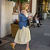 Emma Roberts Wearing Nine West Yellow Sandals
