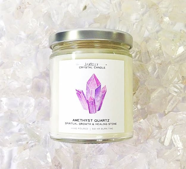 Amethyst and Lavender Candle ($22)