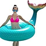Jasonwell Giant Inflatable Mermaid Tail Pool Float Pool Tube