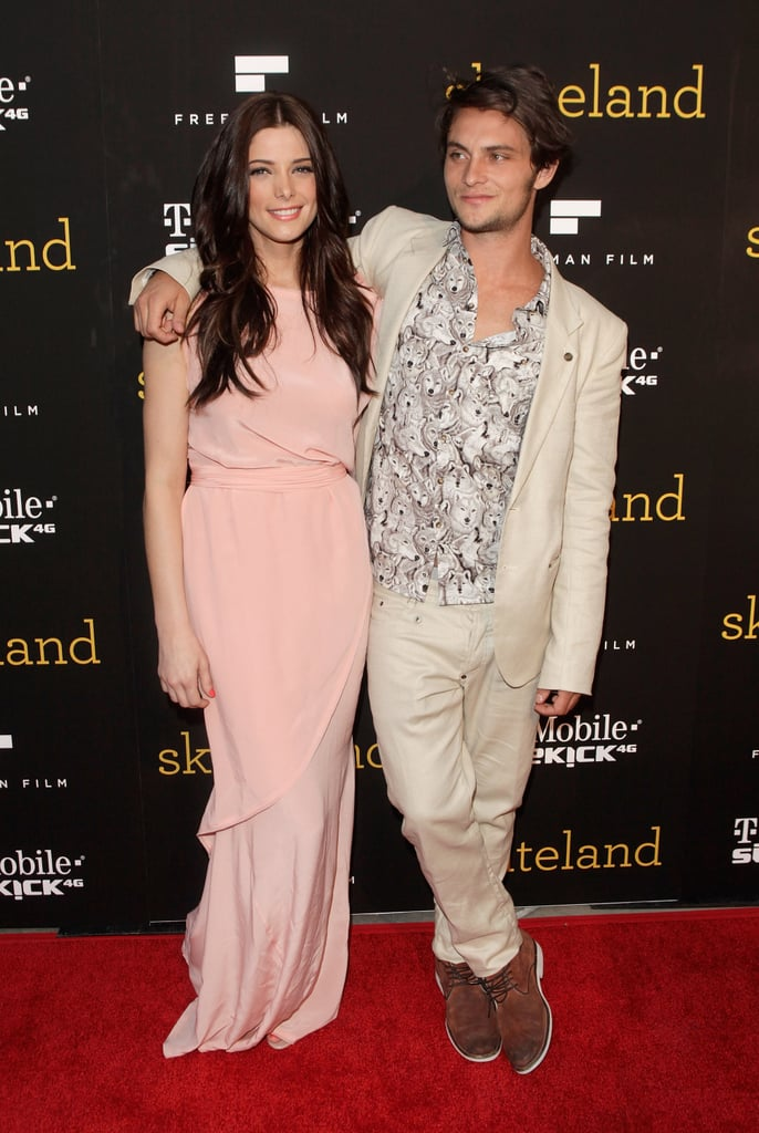 Ashley Greene arrived at the LA screening of Skateland last night in a chic blush gown alongside her dapper costar Shiloh Fernandez. We got our first glimpse of the Skateland trailer last Spring, but the two stars have been busy busting out other projects since then. Shiloh recently shared the big screen with Amanda Seyfried in the dark fairy tale Red Riding Hood, while Ashley wrapped up her role in Breaking Dawn. Both Ashley and Shiloh are in the running for your favorite rising star in this year's PopSugar 100.