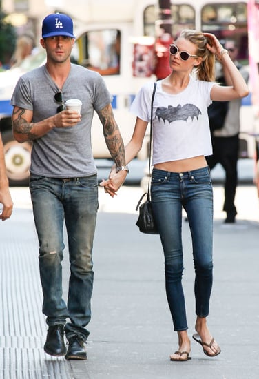 Adam-Levine-his-new-fiancée-Behati-Prinsloo-held-hands-while