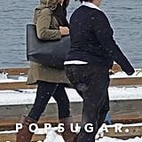Meghan Markle Carried a Black Cuyana Tote Bag in Canada