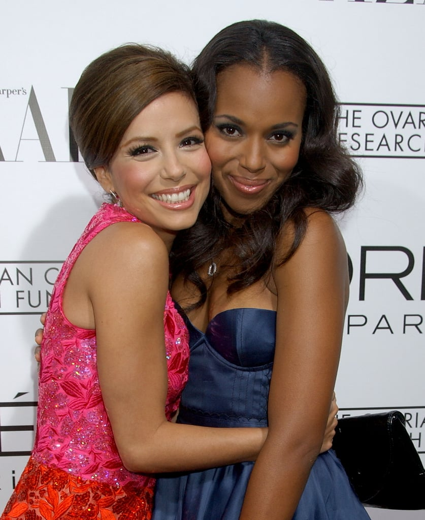 Eva Longoria clung to Kerry Washington at an LA charity event in November 2007.