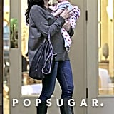 Jenna Dewan cradled baby Everly during a downtown outing.