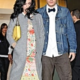 Katy Perry and John Mayer enjoyed dinner together in NYC.