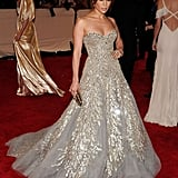 She left us speechless in a Zuhair Murad diamond-embellished strapless stunner at the 2010 Met Gala.