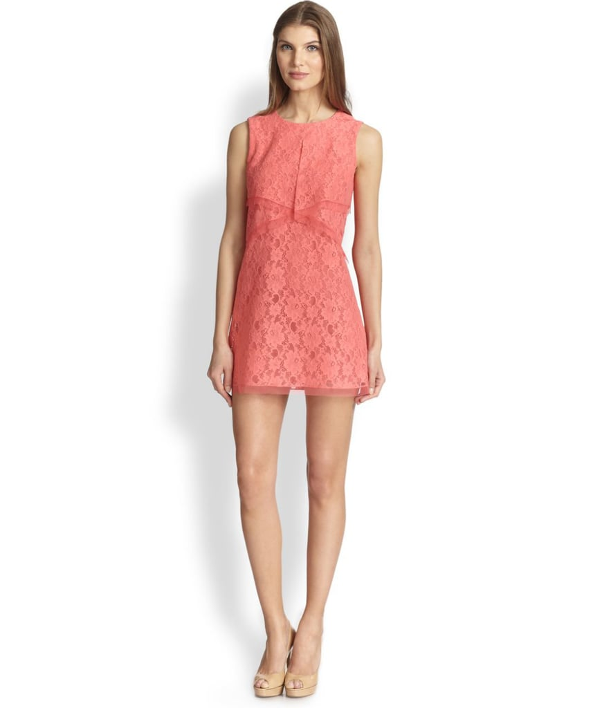BCBG Max Azria pink lace dress ($228)