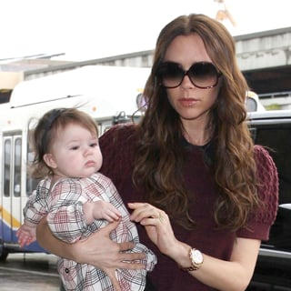 Victoria Beckham Goes Posh in Plaid En Route to New York Fashion Week
