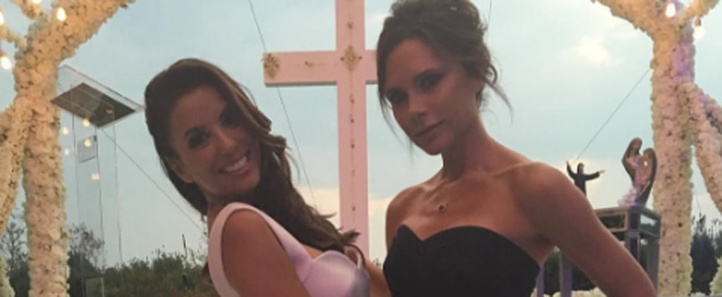 Of Course Victoria Beckham Wore the Perfect LBD to Her Best Friend's Wedding