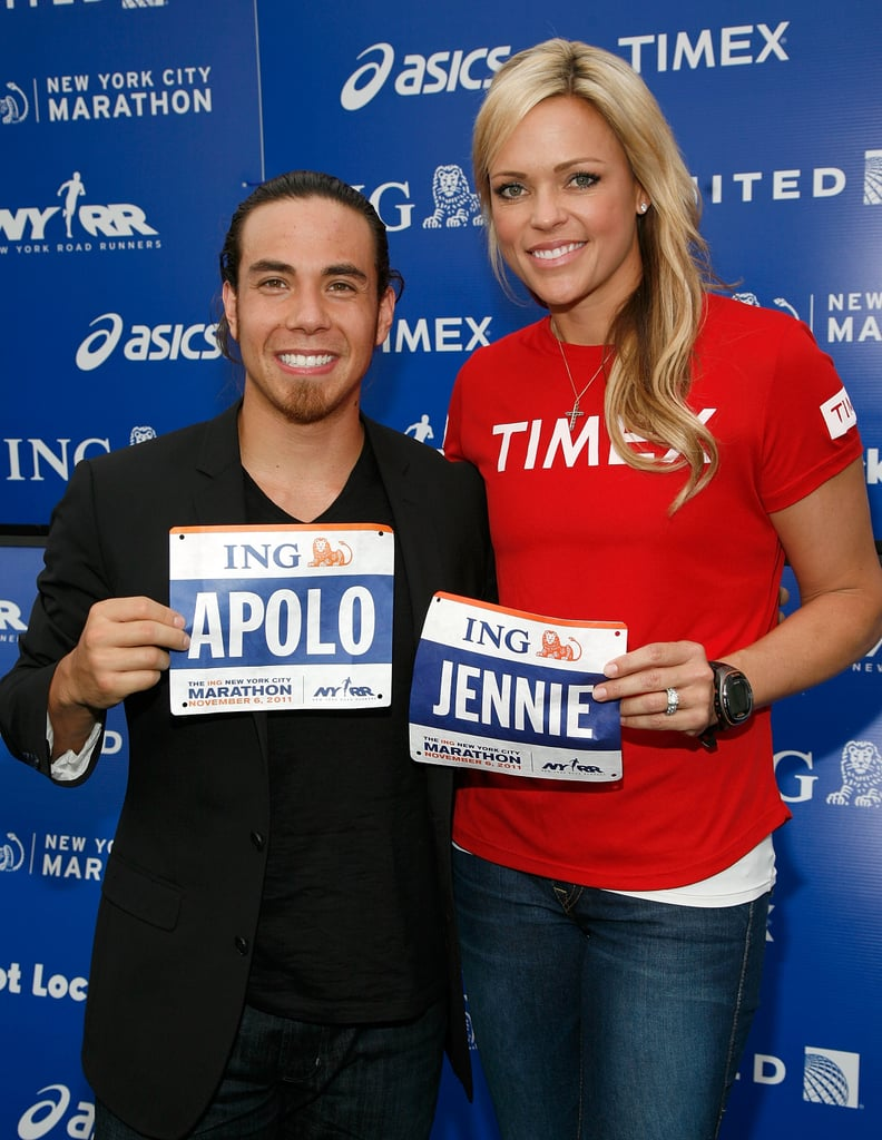 Apolo Ohno and Jennie Finch