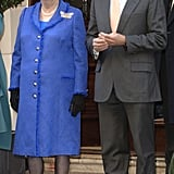 The Iron Lady in a Royal Blue Overcoat