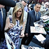 Jennifer Aniston Has Her Dad and Justin's Support at Walk of Fame Ceremony