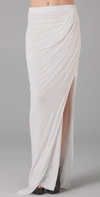 There's something so Grecian and elegant about this Helmut Lang asymmetrical skirt ($230).
