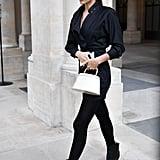 Irina Shayk's Street Style at Paris Fashion Week