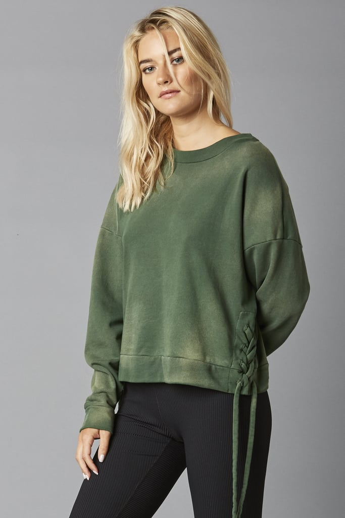 Year of Ours Lace Up Side Sweatshirt
