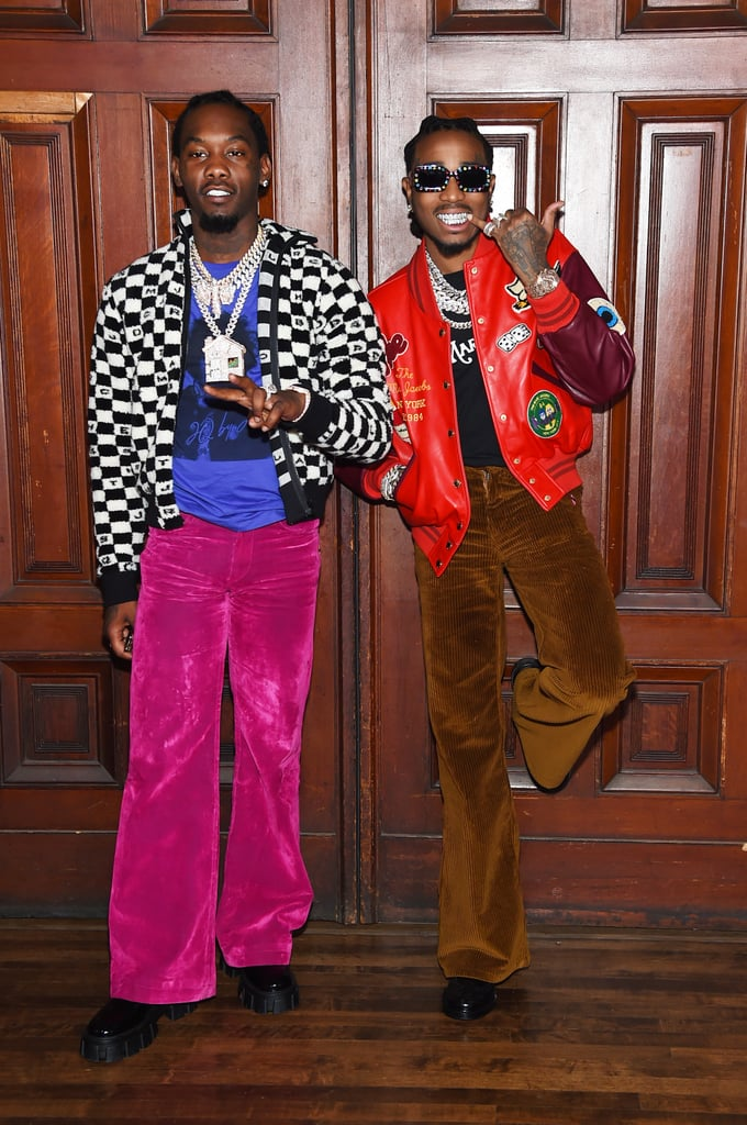 Offset and Quavo at the Marc Jacobs New York Fashion Week Show