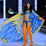 Adriana Lima turned her cape at the 2011 Victoria's Secret Fashion Show.