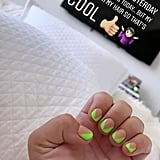 Demi Lovato's With Green Nails