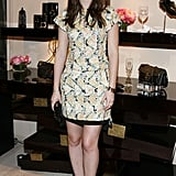 Leighton Meester posed for photographers at Roger Vivier.