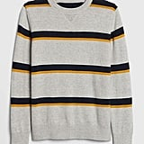 Add some subtle color to his wardrobe with this versatile Kids Stripe Sweater ($40).