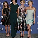 Kiernan Shipka, Jessica Paré, January Jones, and Elisabeth Moss attended the event together.