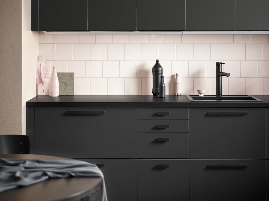 "Ikea has taken its title as the coolest Swedish retailer to a new level with its whole slew of new products released this month. One of Ikea's most brag-worthy new products from the February 2017 collection is the line of sustainable kitchen cabinet fronts, which are all made from recycled material. Yes, you read that correctly — the sleek, edgy black cabinets seen above are made from all that waste you've responsibly recycled over the years.  The Kungsbacka kitchen cabinet fronts are ""made of recycled wood wrapped in plastic film produced from recycled PET bottles,"" as the website reads, explaining that although a water bottle may take 25 minutes to drink, the bottle can live on for 25 years in the form of awesome matte kitchen cabinets.  Keep reading to see more of Ikea's new products, coming to US stores this month.      Related:                                                                Grab Your Shades: Ikea Just Released the Coolest Collection We've Ever Seen                                                                   Prepare to Obsess Over Ikea's New Home Collections — Including a Self-Watering Plant Pot Set                                                                   This Is the Stupidest Mistake You Can Make When Shopping at Ikea"