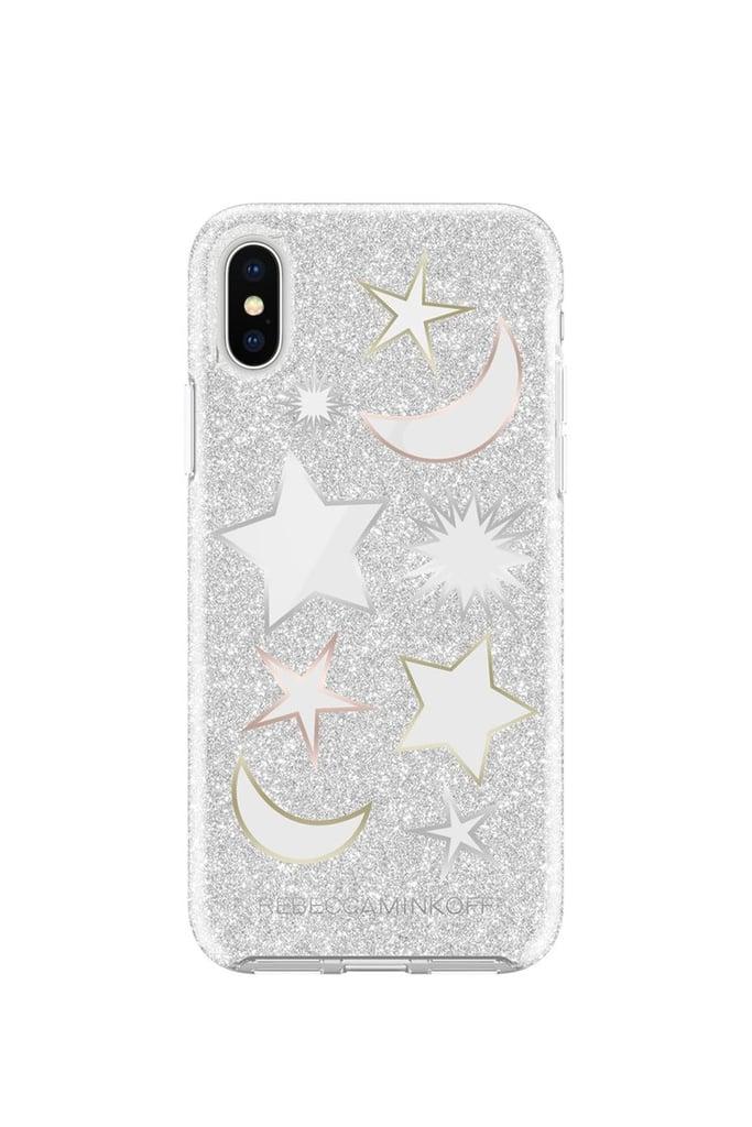Rebecca Minkoff Glitter Galaxy Silver Glitter Case